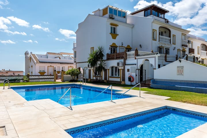Modern Town House On the Beach with Panoramic Views, Terraces, Pool, Wi-Fi & Air Conditioning; Parking Available