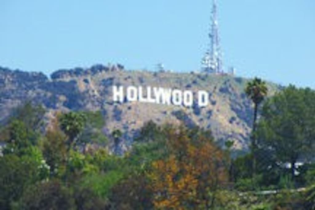 The infamous Hollywood sign, taken from our rooftop
