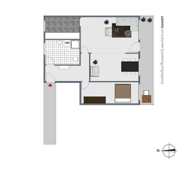 Deine Wohnung im 2D-Schnitt