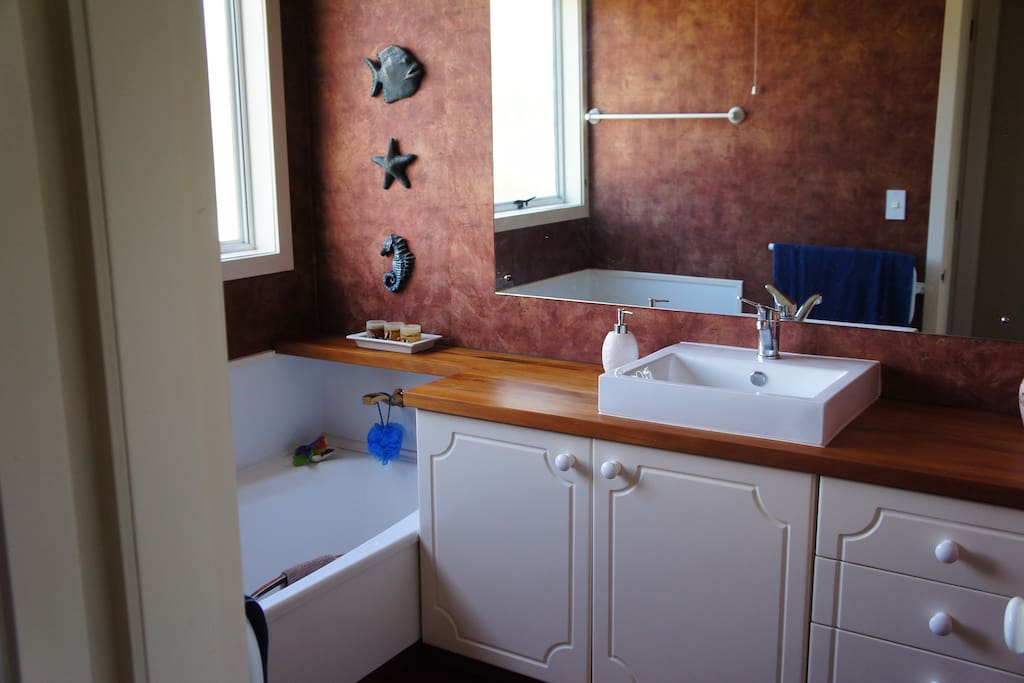 Bathroom has separate toilet and shower room
