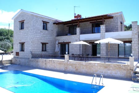 Skarfos villa -Big 4 bedroom villa with playground - Simou - Vila