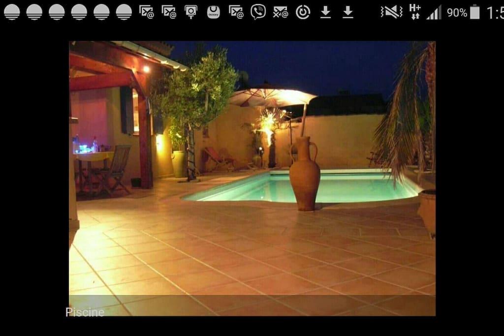 plage de piscine privée