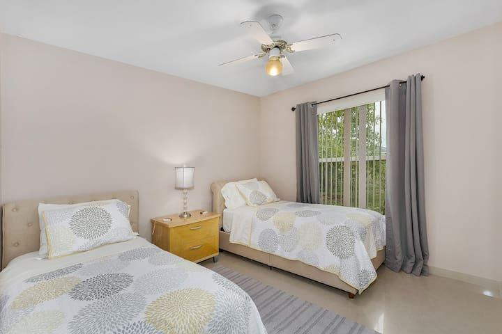 2 twin beds in bedroom number 3