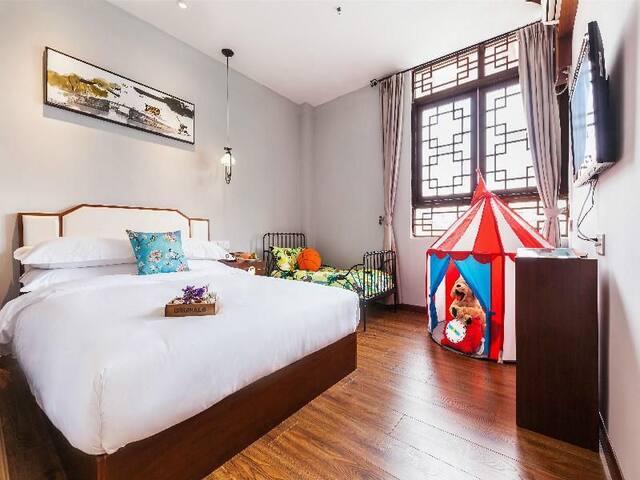 功夫特色主题亲子大床+婴儿房