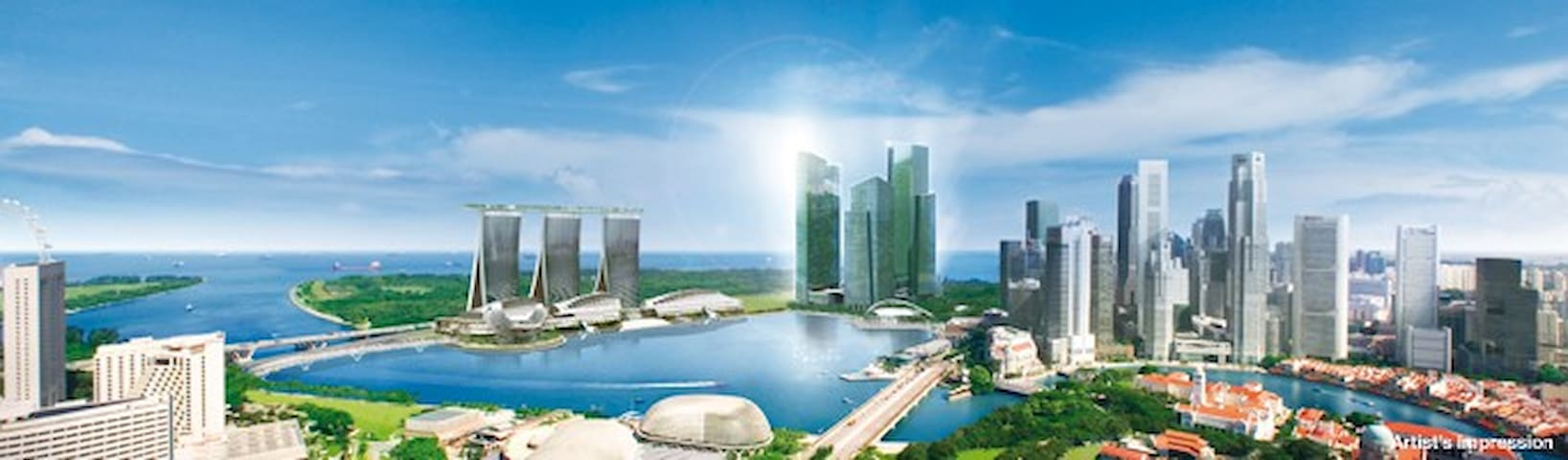 CBD Luxury Bedroom in Marina Bay!