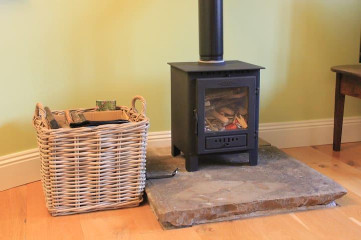 newly installed log burner