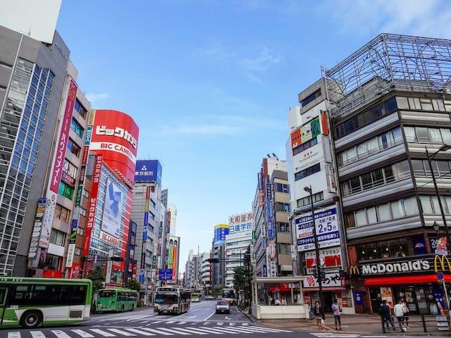 o13 东京繁华商区池袋/美食购物/执照正式酒店独立卫浴/双人间/位于C1出口1分钟