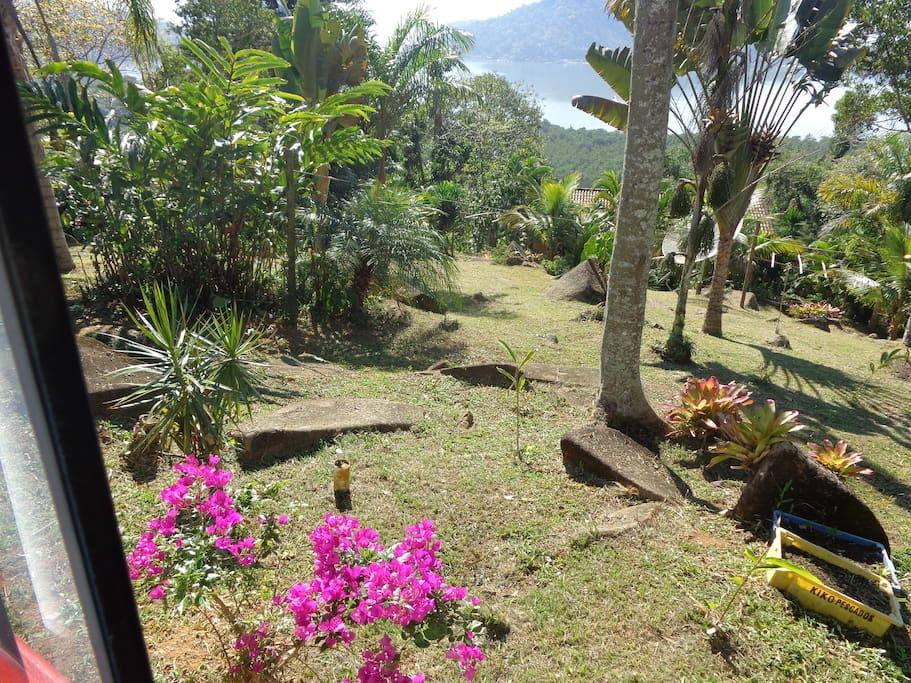 Vista do jardim