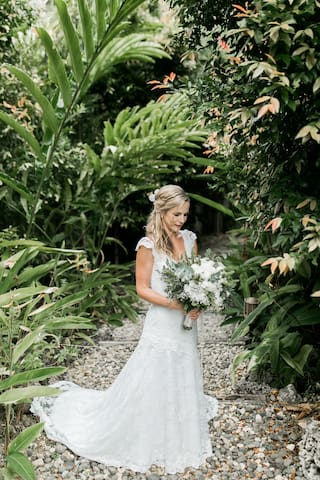 Beautiful bride in our little paradise.