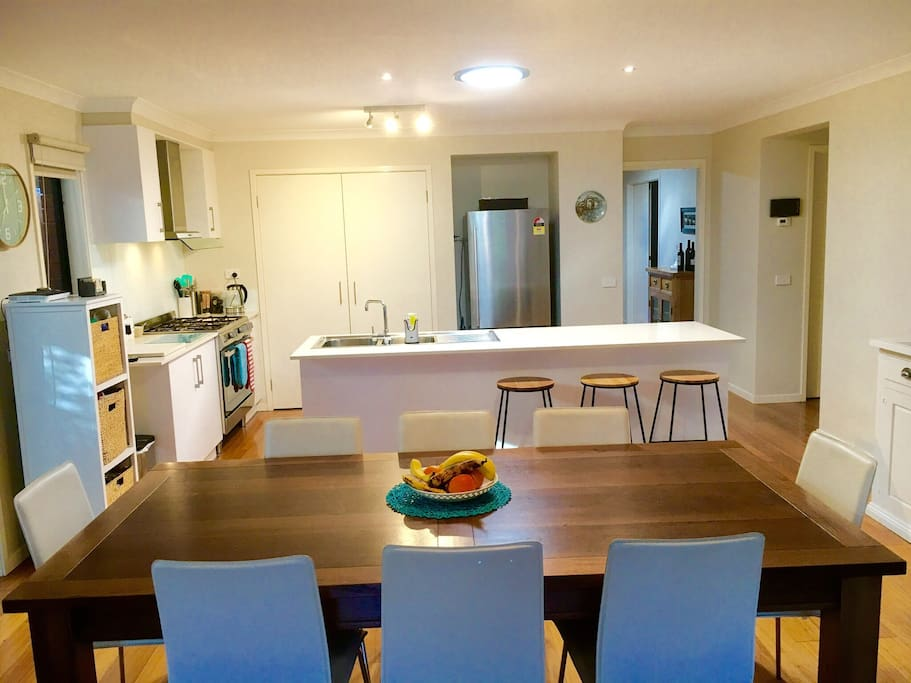 Large kitchen and dining area for all to enjoy