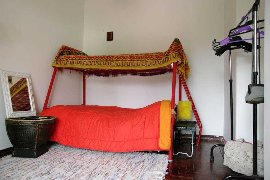A bunk bed is perfect for a couple or for friends or relavites