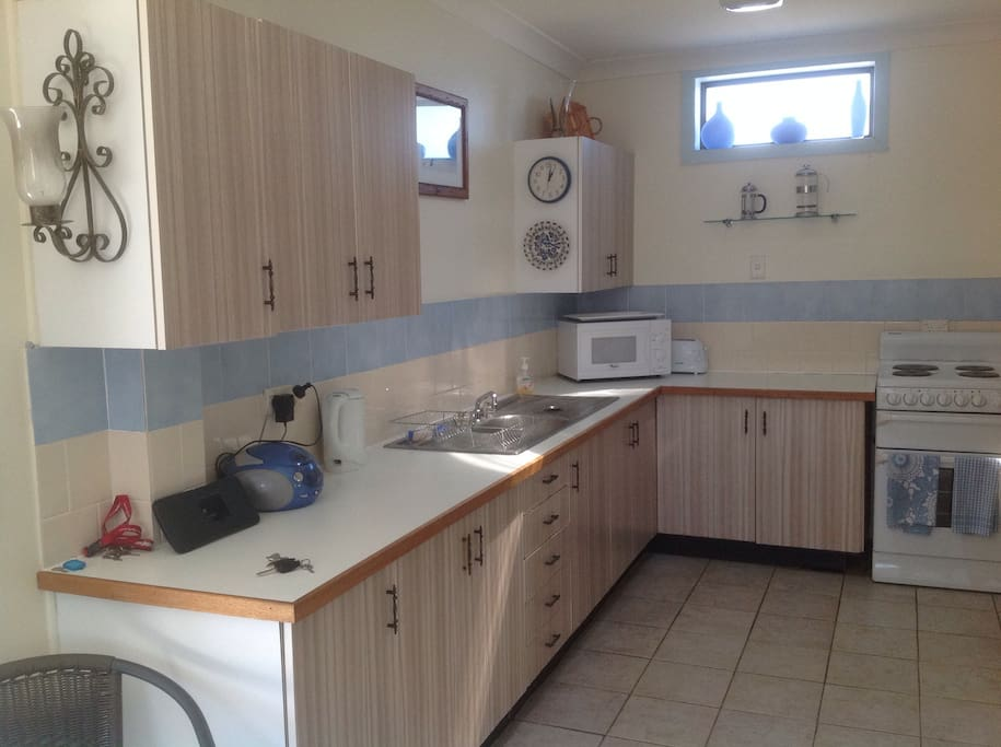 Bright kitchen for self catering