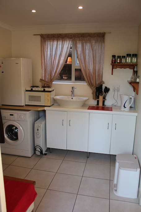 Semi-self Catering with self-service laundry