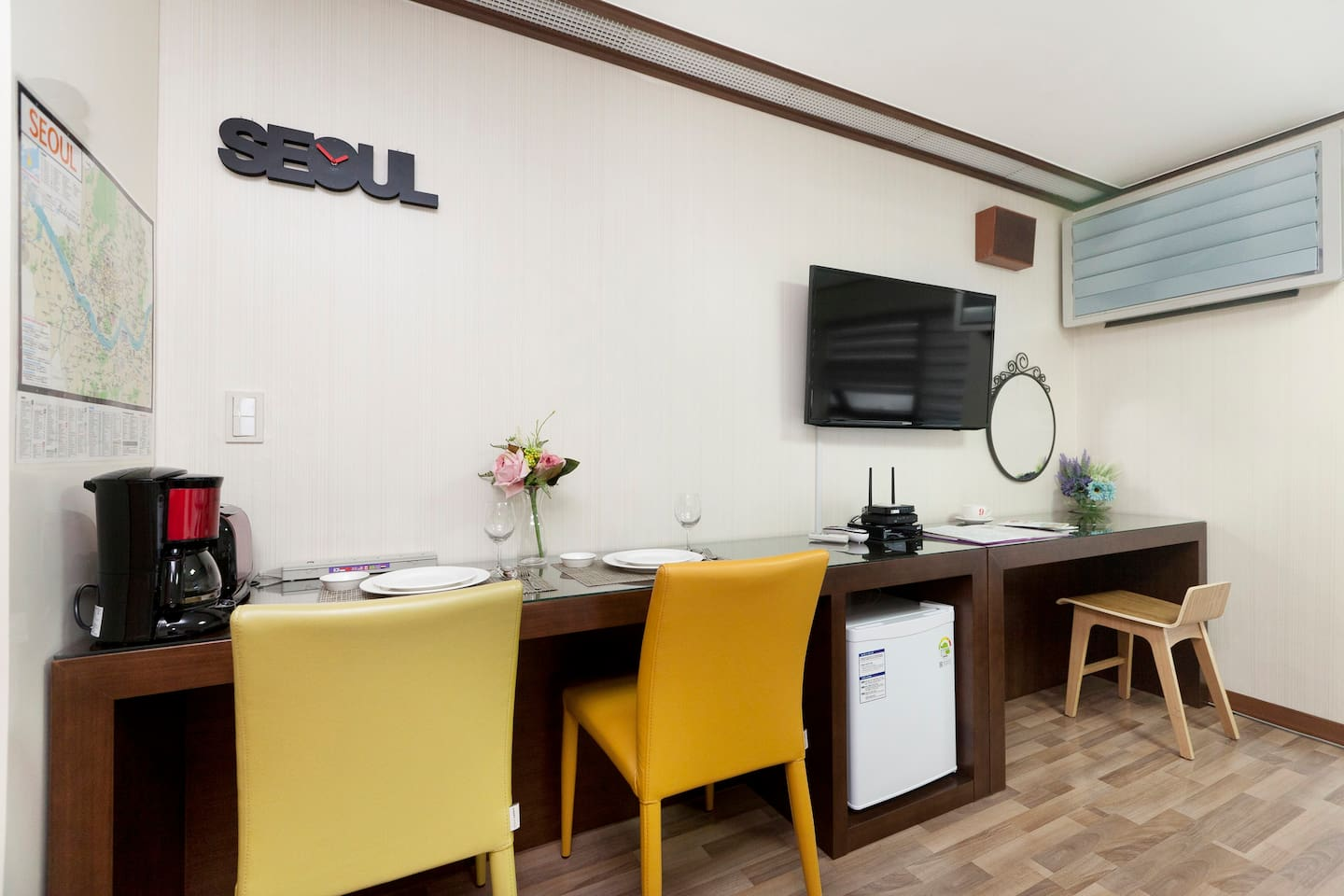 insadong  hyun hees cozy house apartments for rent in jongno gu seoul south korea: heater table aaad
