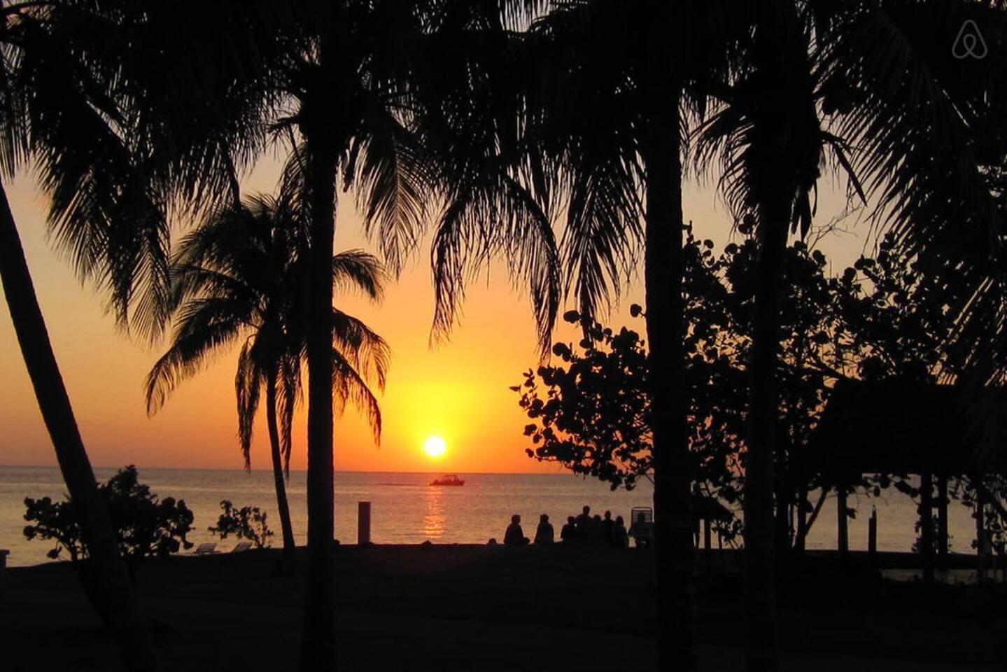 Sunset at Point Village