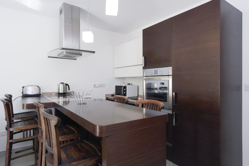 Fully-fitted modern kitchen