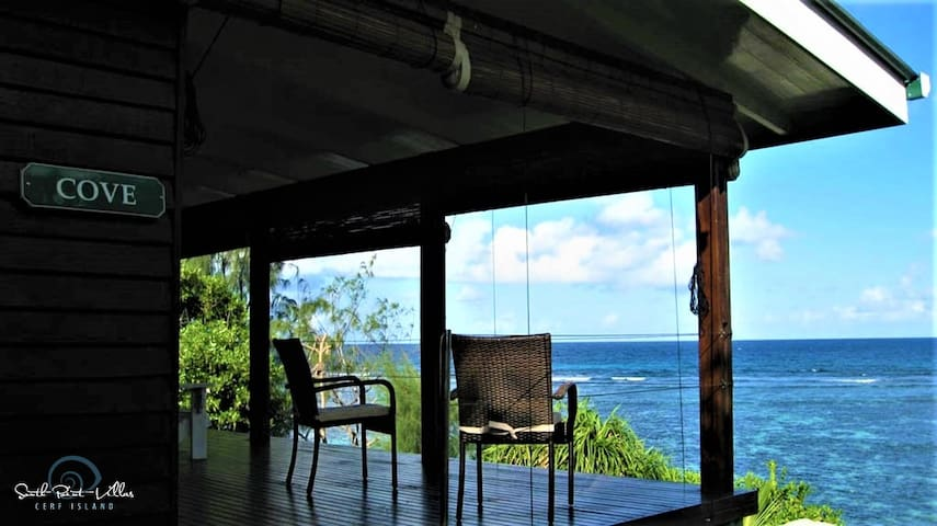 Sea view on private deck