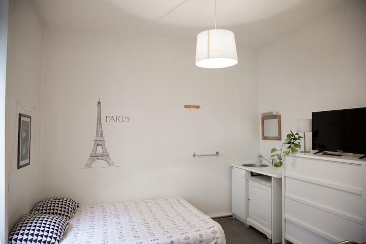 Chambre double en résidence
