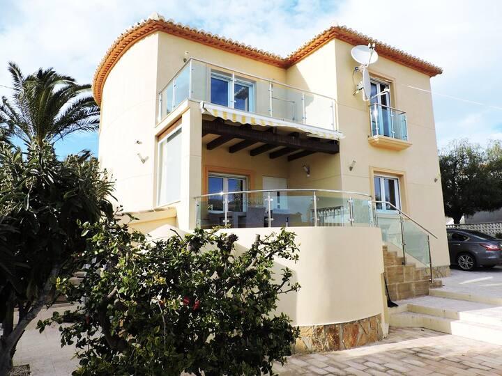 Casa con maravillosas vistas en Calpe