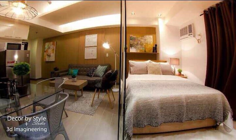 Grand Canal Mall 1BR + WiFi @BGC