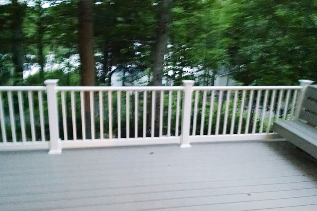 Sit out on the deck and listen to nature..... loons ,bald eagles,Ospreys and peace and quiet.