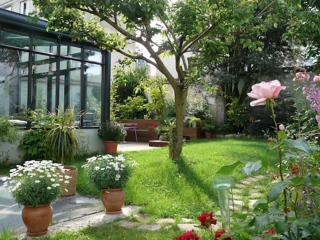Chambre sur jardin - Reims - Bed & Breakfast