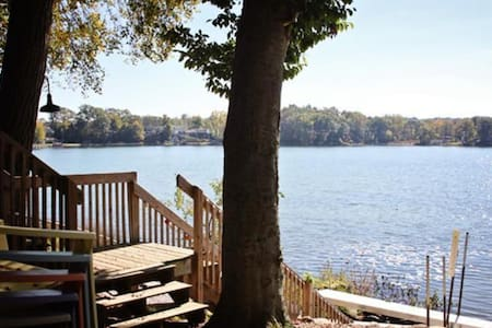 Beautiful lake setting! - Plainwell - Kabin