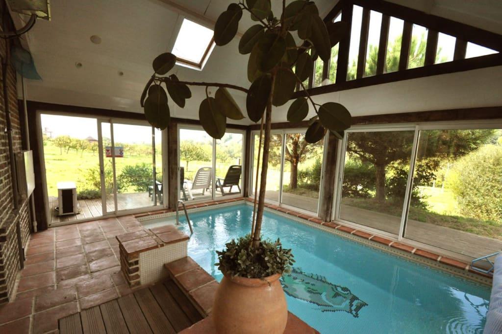 Maison avec piscine couverte 29 villas louer for Location maison avec piscine en normandie