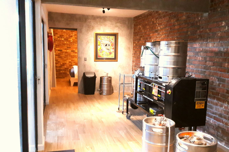 Nano Brewery  and Master bedroom
