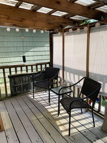 Private patio for guests