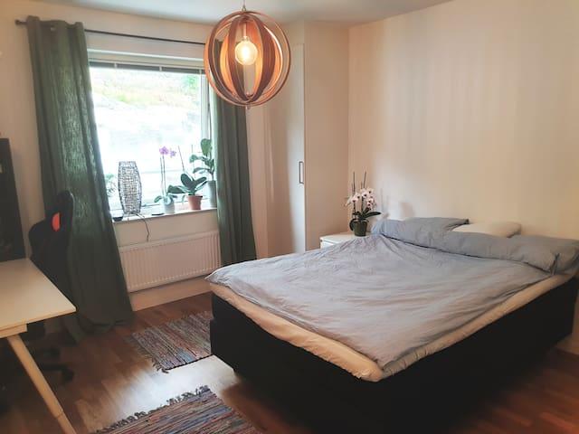 Room in modern apartment. Lock on your door.