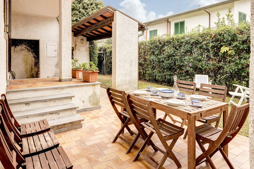 Patio with garden furnitures