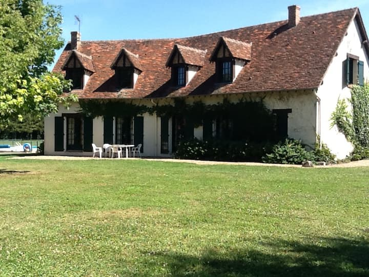 Maison familiale au coeur des Chateaux de la Loire