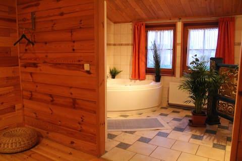 Blockhaus am See mit Barfuss-Terasse max. 6 Gäste