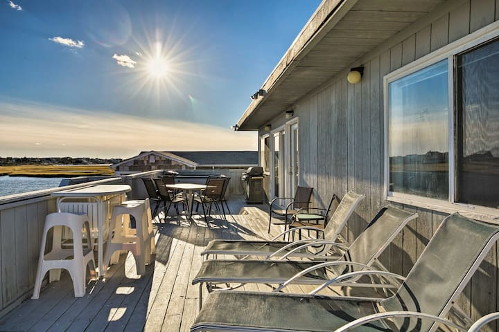 This waterfront property offers amazing views from the deck!