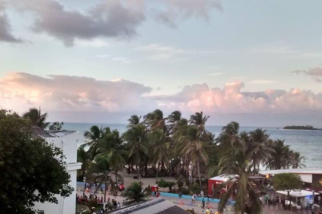 Vista del balcon.