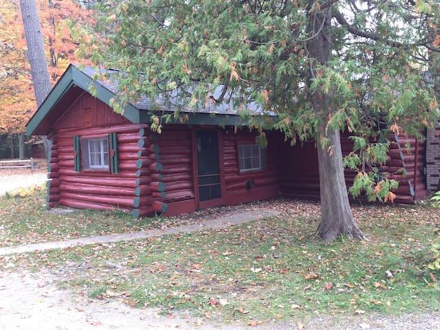 Ellis Lake Resort - Oak Logroom-Interlochen