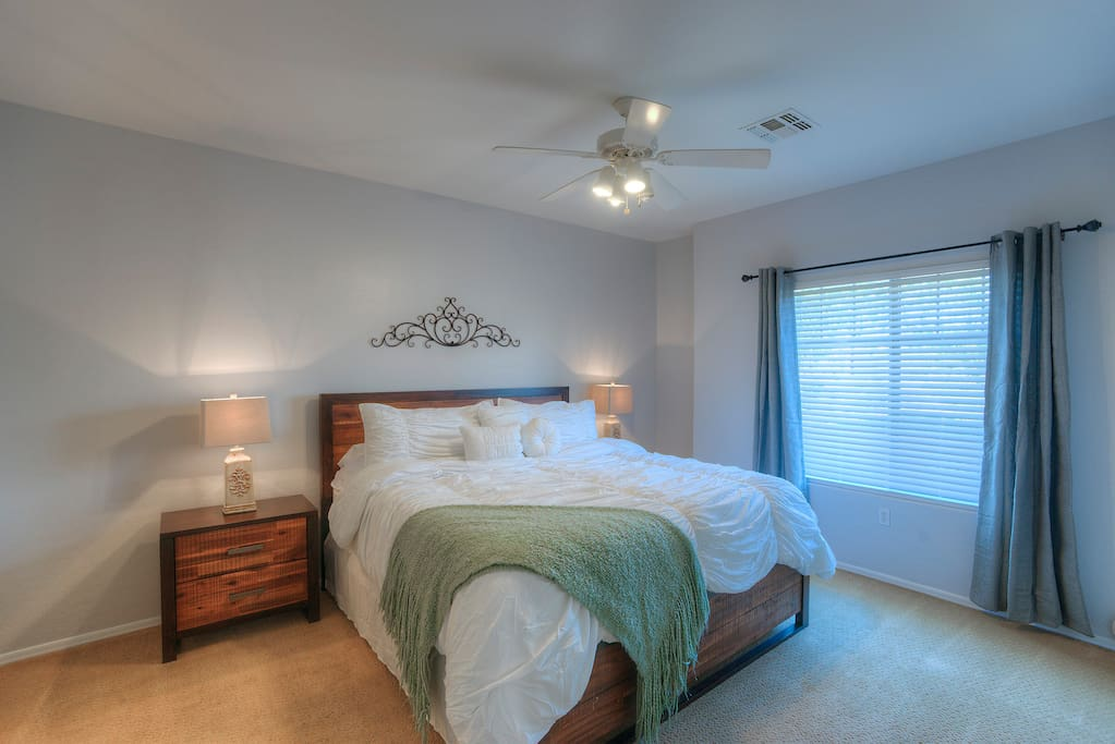 Master Bedroom, King Size Bed. Memory Foam Mattress. A tranquil retreat.