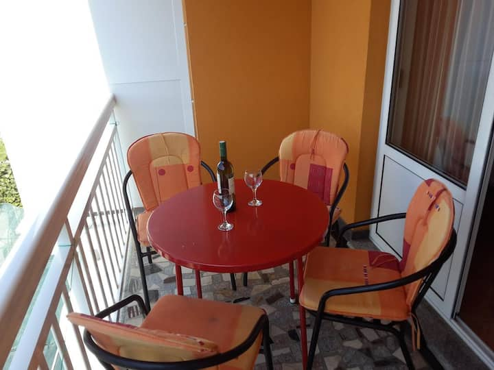 One bedroom apartment with balcony and sea view Gradac, Makarska (A-13681-a)