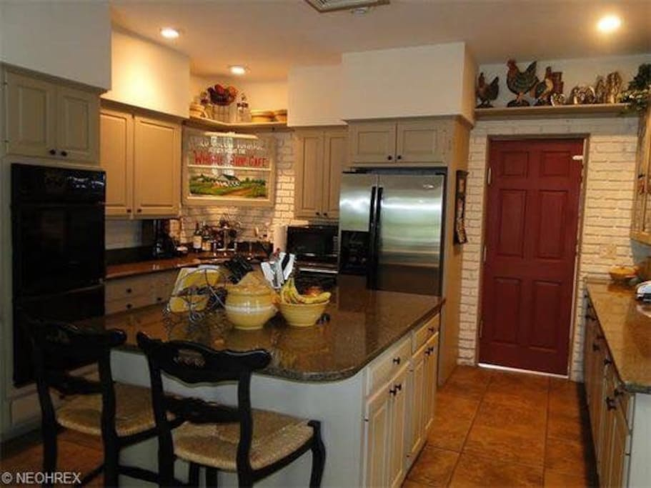 Kitchen. You have use of the appliances, dishes, etc. plenty of items for your large group.