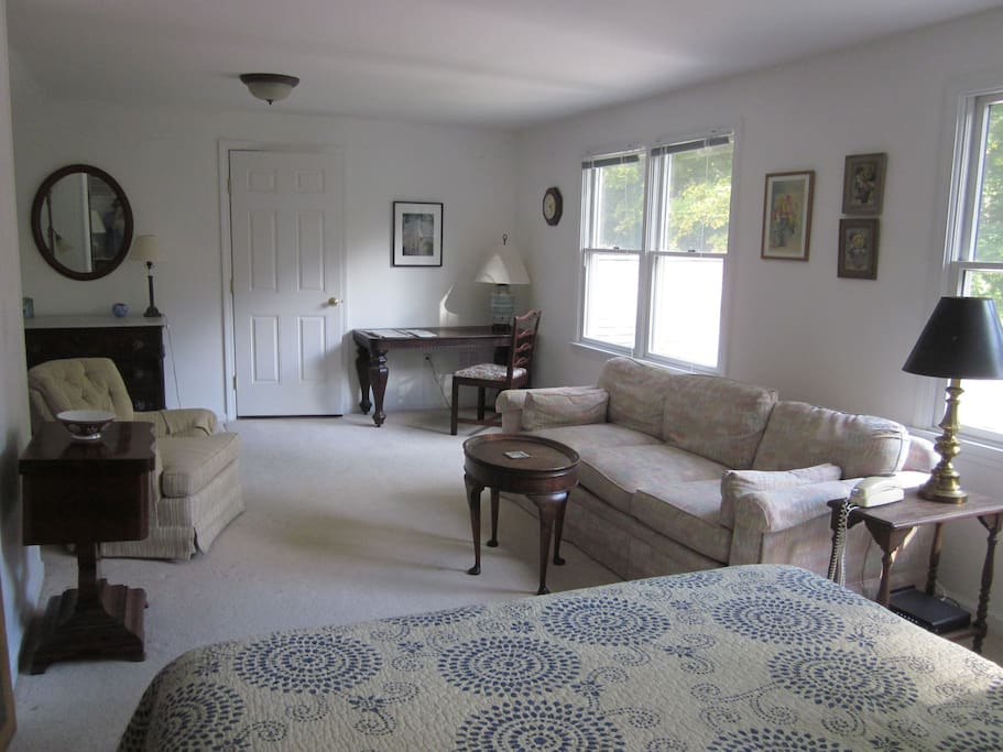 West Room with sitting area & desk