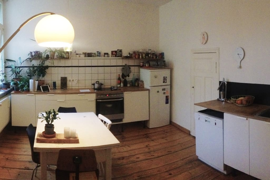 the shared kitchen