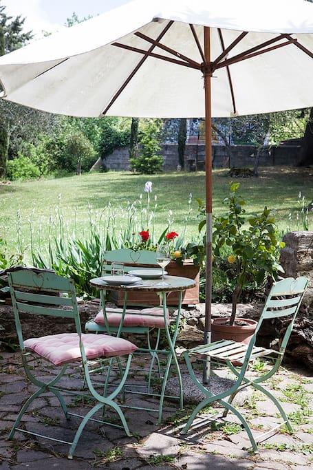 Terrace in the garden