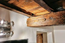 first bedroom - detail - the joists from the 1600s