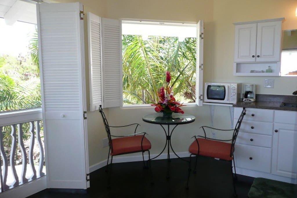 Tiki room eating/sitting area