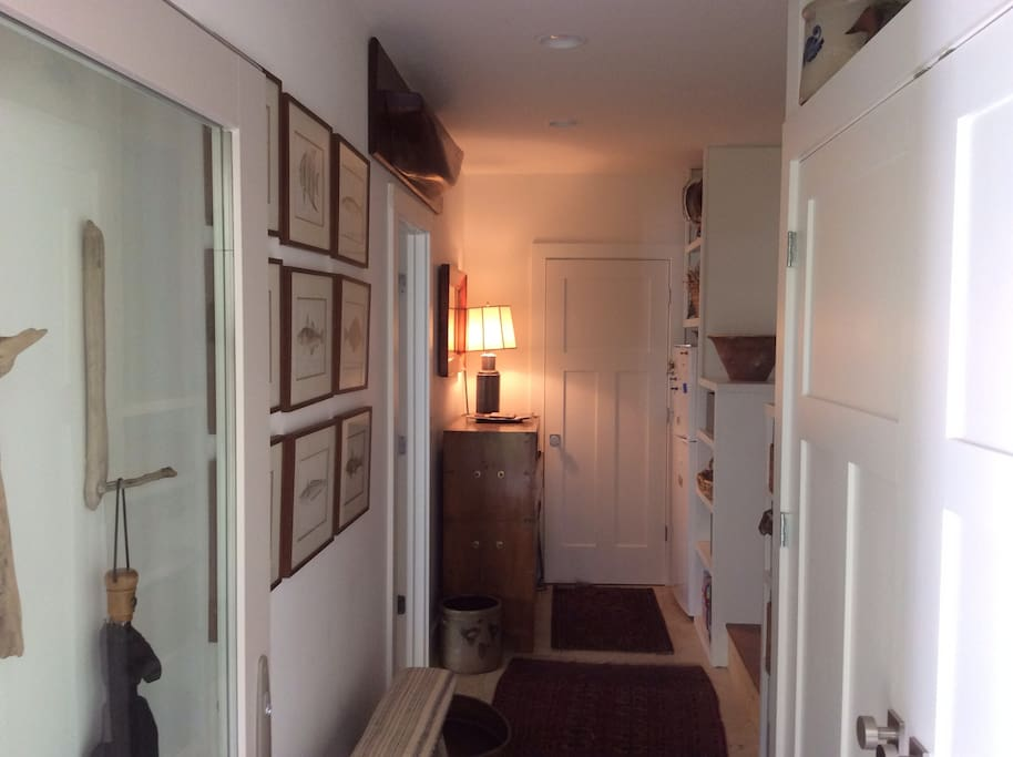 Mudroom into suite