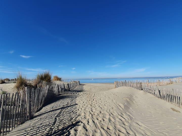 """Accès direct plage """"Au Paradis de Dina"""""""