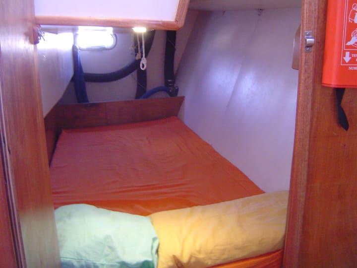 Sailboat double cabin