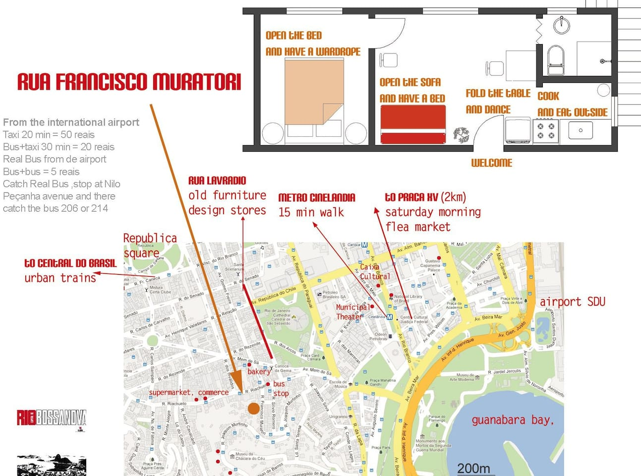 Localization and apartment's plan.