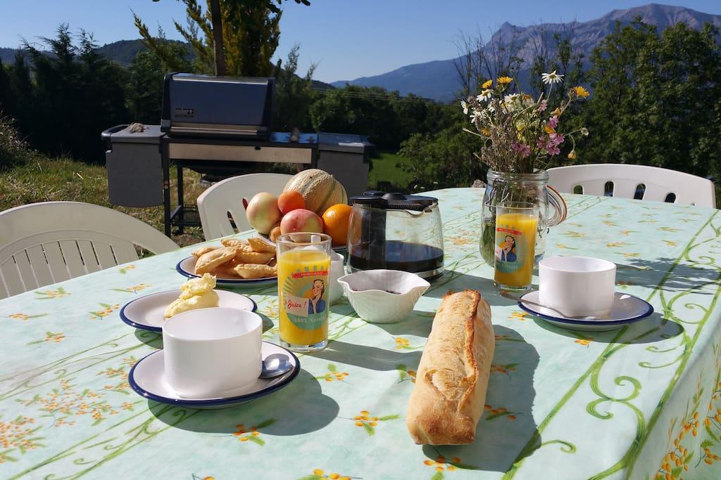Petit déjeuner typique du Champsaur